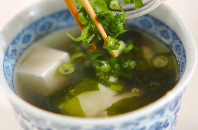 シンプルワカメのスープの作り方の手順4