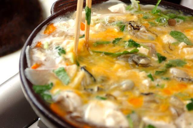 カキの卵雑炊の作り方の手順8