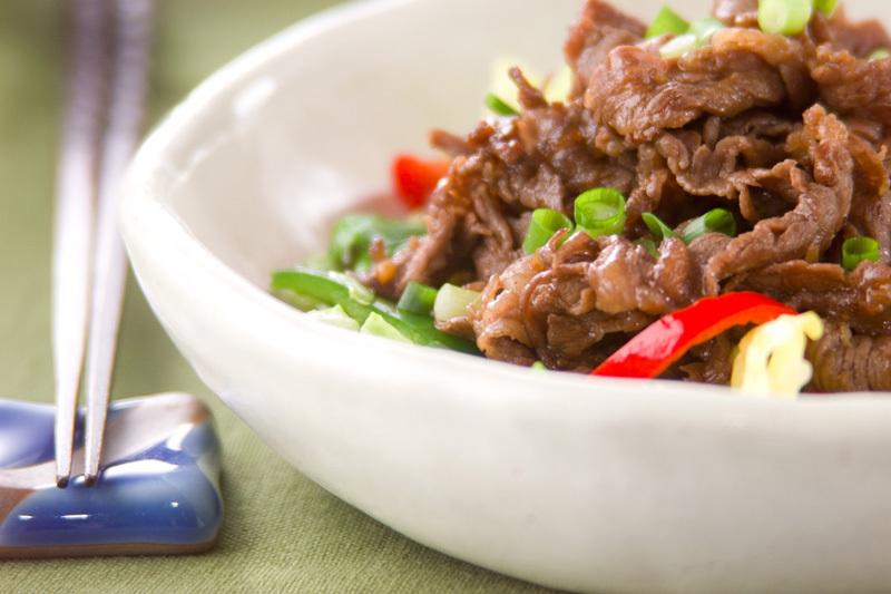 6. 牛肉の牡蠣ソース炒め