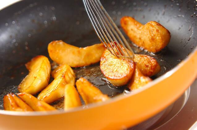 香ばしリンゴのほろ苦キャラメリゼの作り方の手順3