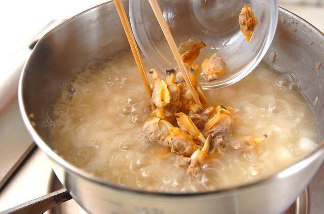 アサリの五穀米おじやの作り方の手順4