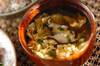 シイタケのふんわり卵汁