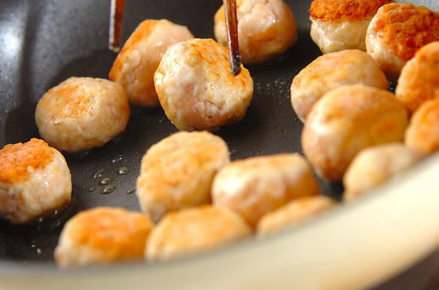 煮込みチリ肉団子の作り方の手順6