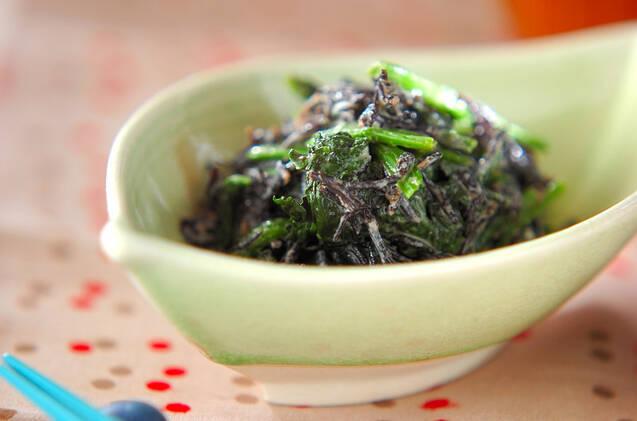 青菜とヒジキの和え物