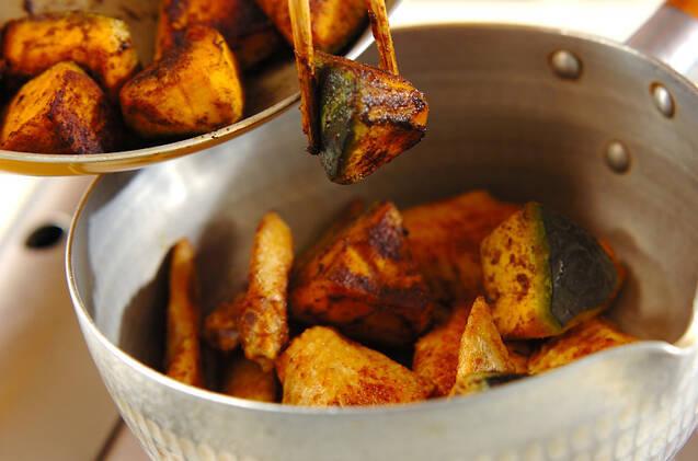 鶏肉とカボチャのカレー煮の作り方の手順6