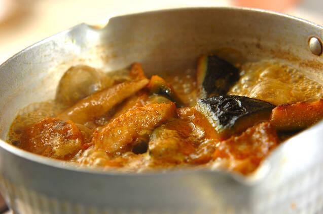 鶏肉とカボチャのカレー煮の作り方の手順7