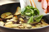 ナスとソーセージのソース炒めの作り方1