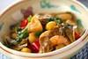 マイタケの中華炒めの作り方の手順
