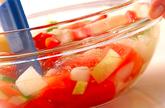 トマトのガスパチョの作り方1