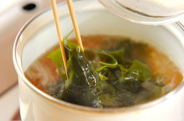 塩ワカメのスープの作り方の手順4