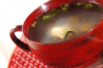 カキのショウガスープ