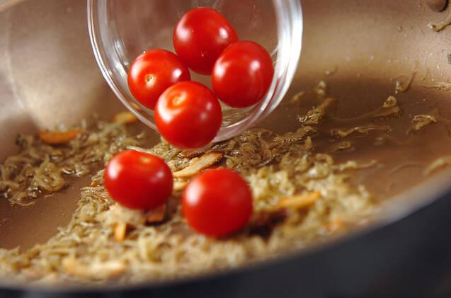 ジャコと春キャベツのパスタの作り方の手順4