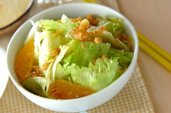 レタスと柑橘のサラダ
