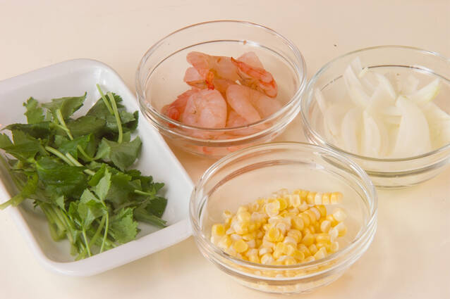 かき揚げ丼の作り方の手順1