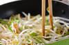 モヤシのソース卵とじの作り方の手順5