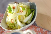 白菜のジンジャー酢和え