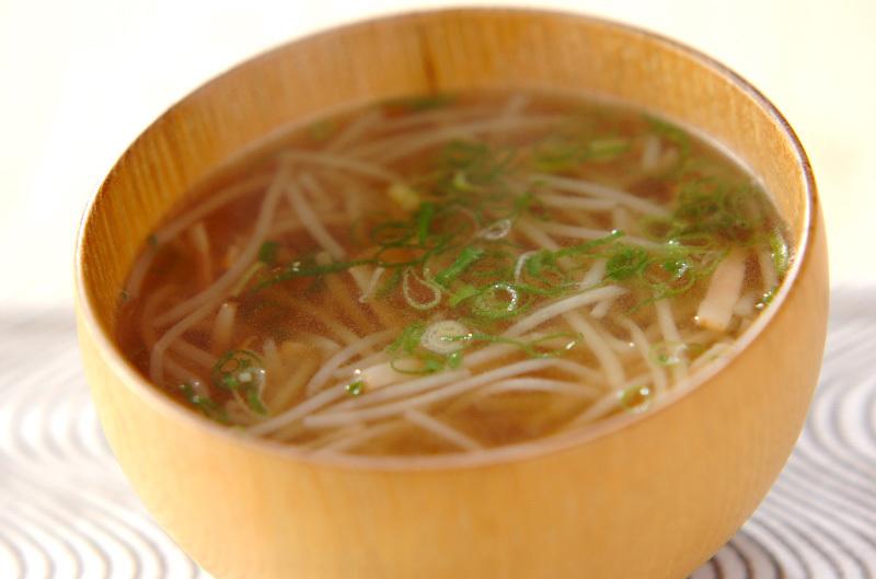 7.ベーコンともやしのスープ
