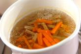 根菜の豆腐ドレッシング和えの作り方2