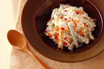 根菜の豆腐ドレッシング和え