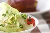 レタスと貝われ菜サラダ