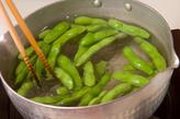 甘辛炒り枝豆の作り方1