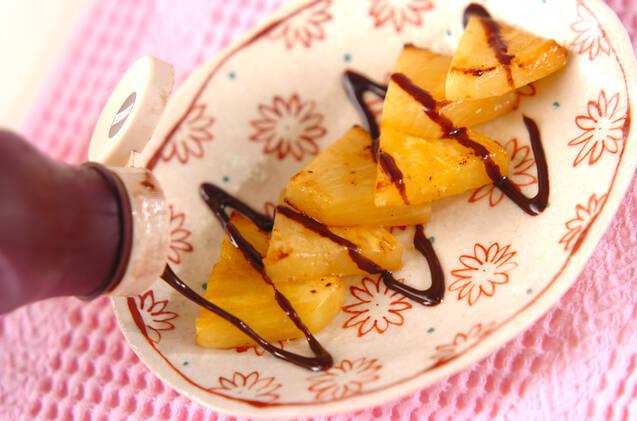 焼きパイン・チョコがけの作り方の手順3