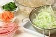 野菜冷麺の下準備2