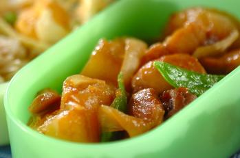 鶏とジャガイモの煮物