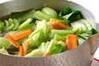 チンゲンサイの塩炒めの作り方の手順5