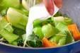 チンゲンサイの塩炒めの作り方7