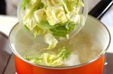 春キャベツとジャガイモのパスタの作り方2