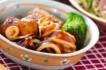 イカと焼き豆腐の煮物