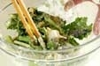 エビと菊菜のかき揚げの作り方2