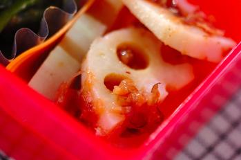 レンコンの梅肉和え