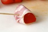 トマトのベーコン巻きの作り方2