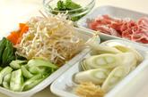 豚肉とたっぷり野菜の炒め物の下準備1