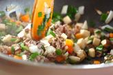 牛肉チャーハンの作り方1