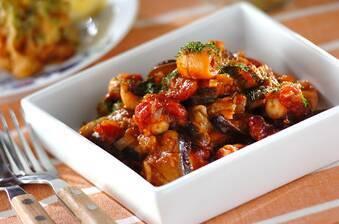 簡単洋風おかず!タコとナスのトマト煮