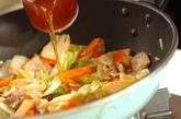 豚肉とエビの中華丼の作り方2