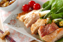 オーブン焼き鶏・ネギソース