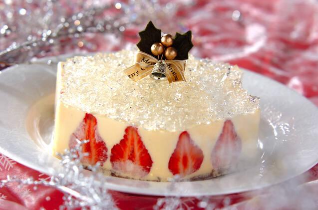 宝石のように盛られたゼリーケーキ