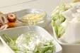 白菜とちくわの煮物の下準備1