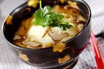 湯葉と豆腐の丼