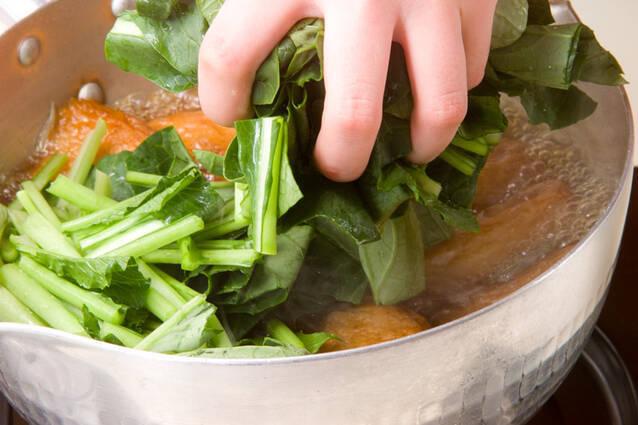 ごぼ天と青菜の煮物の作り方の手順5