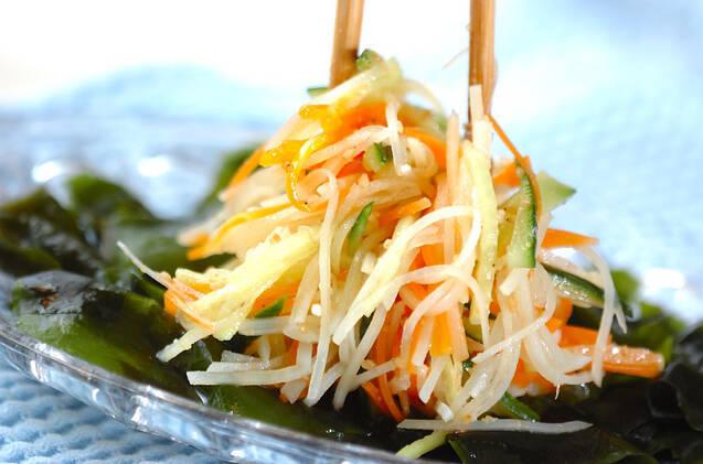 せん切り野菜サラダの作り方の手順6