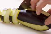 ナスとトマトのペンネの作り方1