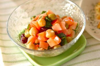 豆とトマトのフレンチサラダ