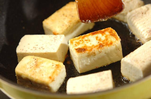 豆腐のあんかけステーキの作り方の手順4