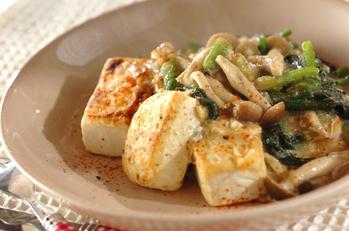 豆腐のあんかけステーキ