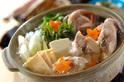 コラーゲンと野菜たっぷり!鶏鍋